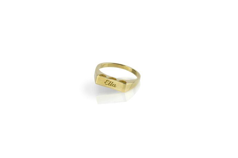טבעת לבבות עם חריטה