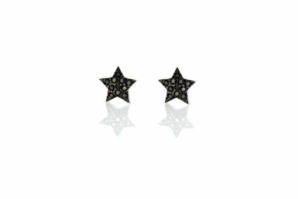 עגילי כוכב בשיבוץ יהלומים
