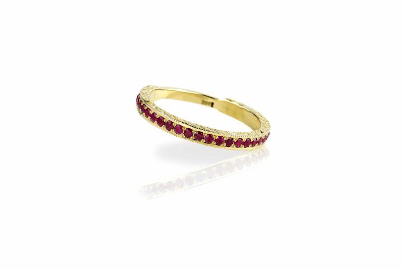טבעת רובי
