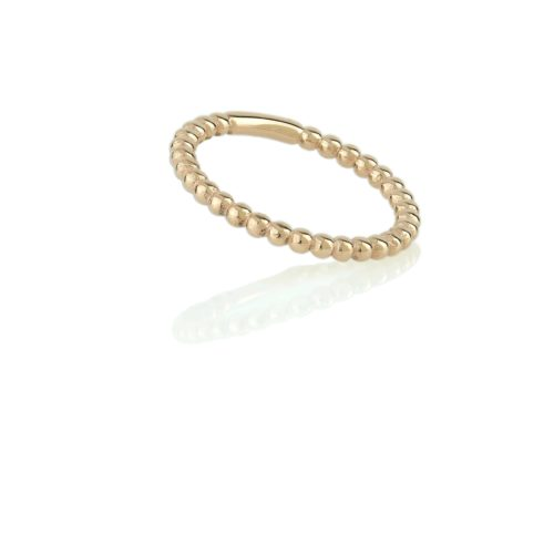 טבעת זהב כדורים