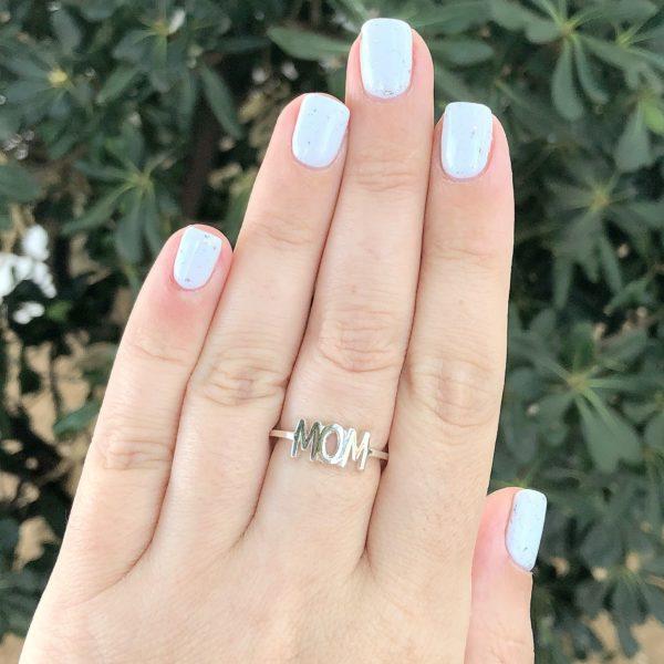 טבעת mom זהב 14 קראט