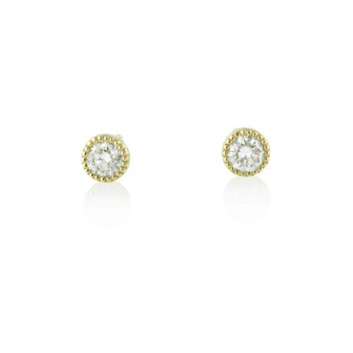 עגילי יהלומים לבנים