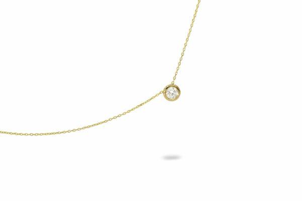 שרשרת זהב משובצת יהלום