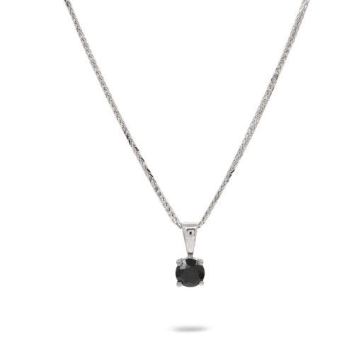 שרשרת חצי קארט יהלום שחור