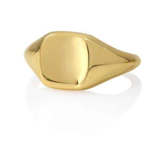 טבעת חותם זהב 14 קארט