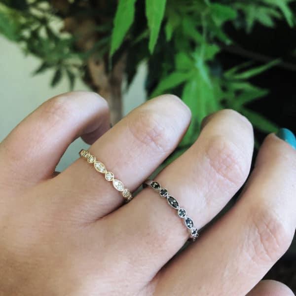 טבעת עלים זהב