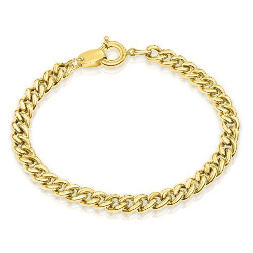 צמיד גורמט קלאסי בינוני זהב 14 קארט צהוב