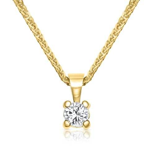 שרשרת יהלום לבן קלאסי ועדין