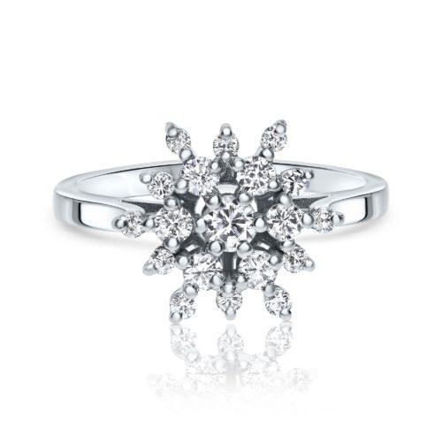 טבעת ארנדל משובצת יהלומים לבנים